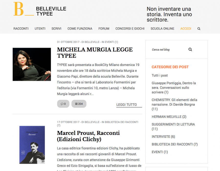 Belleville Typee blog