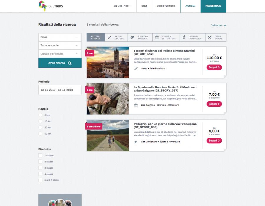 GeeTrips - Piattaforma per organizzare le gite scolastiche