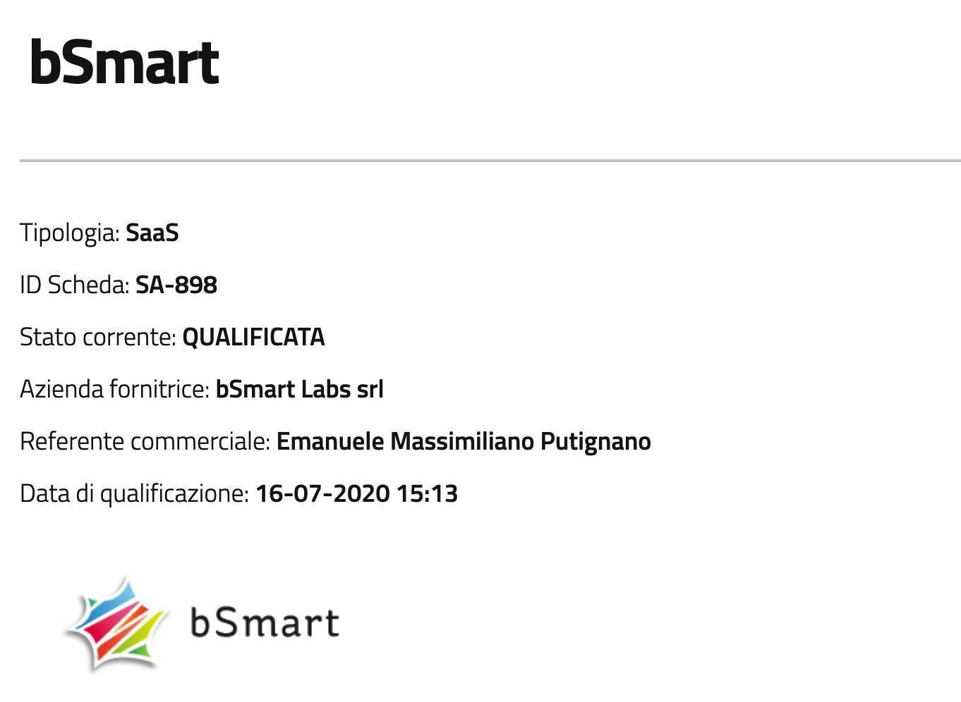 Qualificazione AGID bSmart